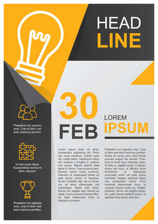 Zakelijke poster Stock Illustratie