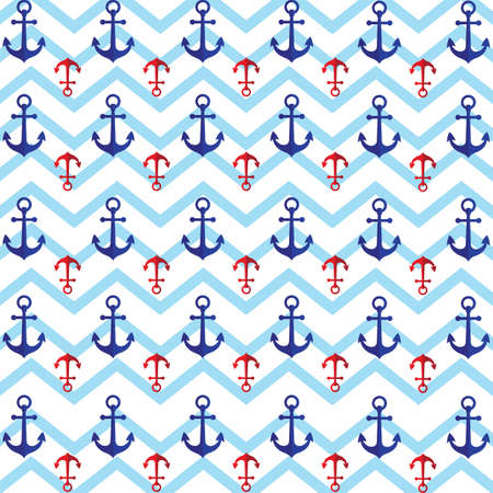 A seamless anchor pattern illustration.
