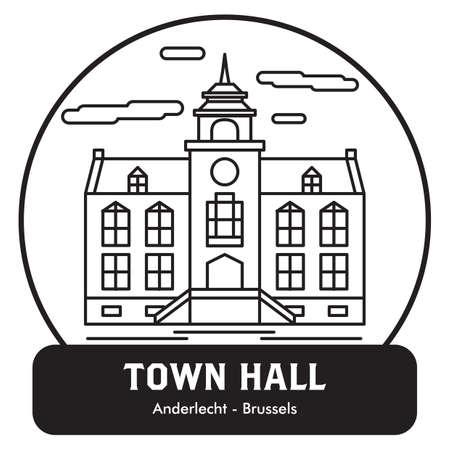 Stadhuis Stock Illustratie