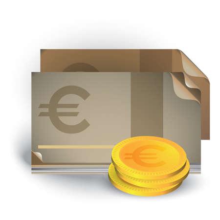 Moneda euro Foto de archivo - 81589613
