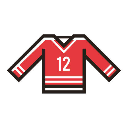 Een illustratie van hockeyjersey.