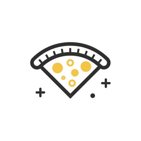 Uma ilustração de fatia de pizza. Foto de archivo - 81533963