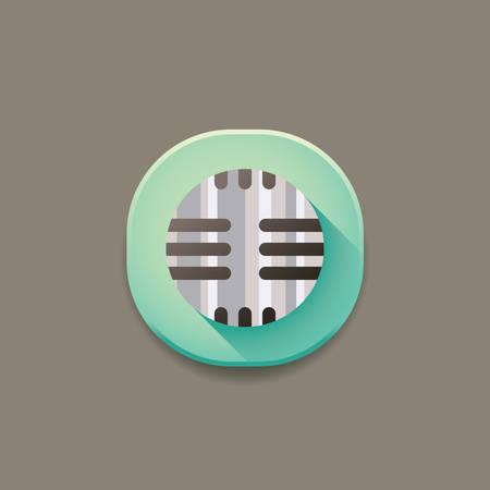 voice recorder: voice recorder icon Illustration