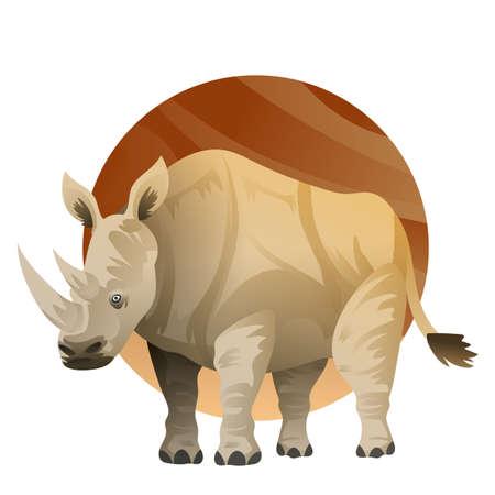 Een neushoorn illustratie. Stock Illustratie