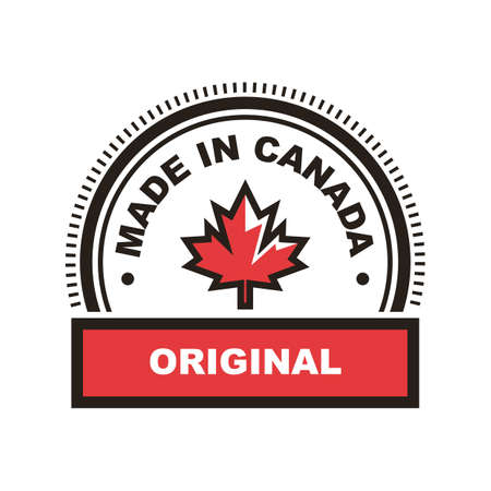 Made in canada label 矢量图像