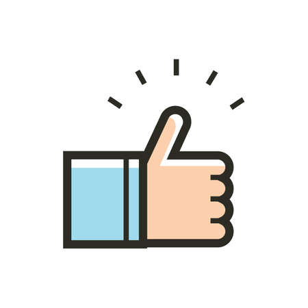 thumbs up icon Stock Illustratie