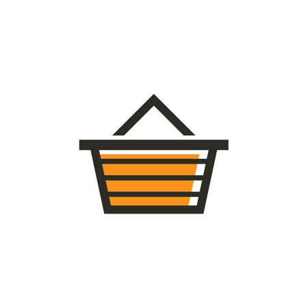 A basket icon illustration. Illustration