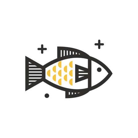A fish illustration. 版權商用圖片 - 81533974