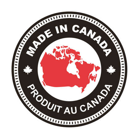 カナダのイラストで作られた A。