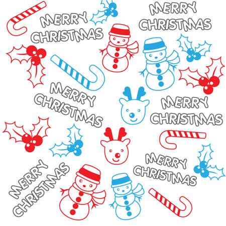 merry christmas pattern background Stock Illustratie