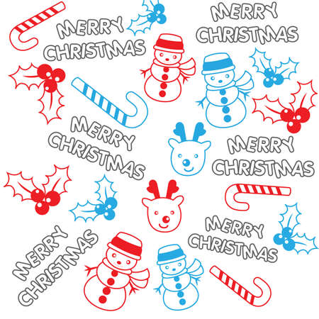 merry christmas pattern background Illusztráció