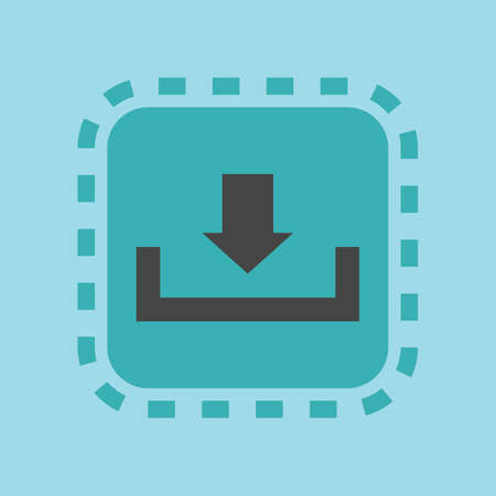 A download icon illustration.