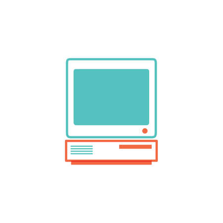 monitor with keyboard Stock Vector - 81533055