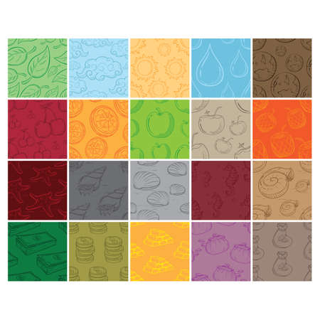 set of seamless pattern backgrounds