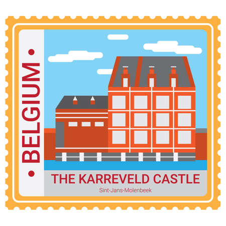 The karreveld castle 向量圖像