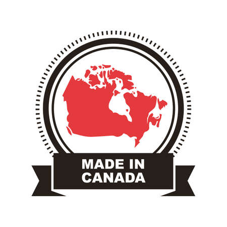 Made in canada label Stok Fotoğraf - 81589629
