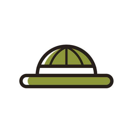 Een mounties hoed illustratie.