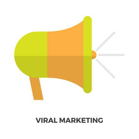 ウイルスのマーケティングの概念  イラスト・ベクター素材