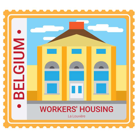 Workers housing Illustration