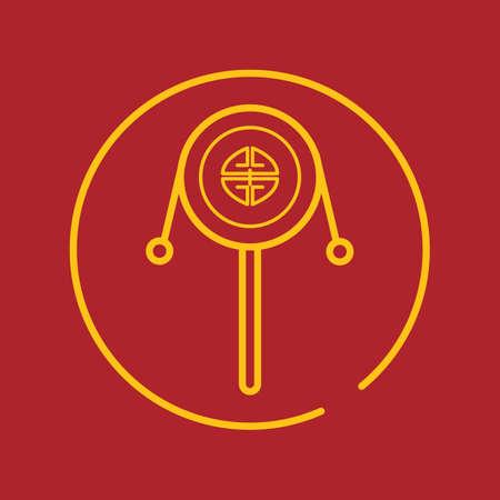 中国語赤ちゃんのガラガラ  イラスト・ベクター素材