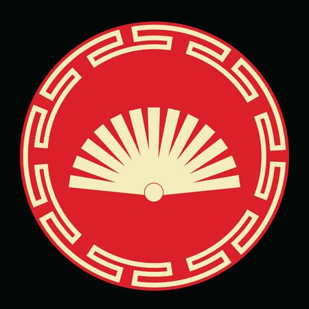 Ventilatore cinese mano Archivio Fotografico - 81534271