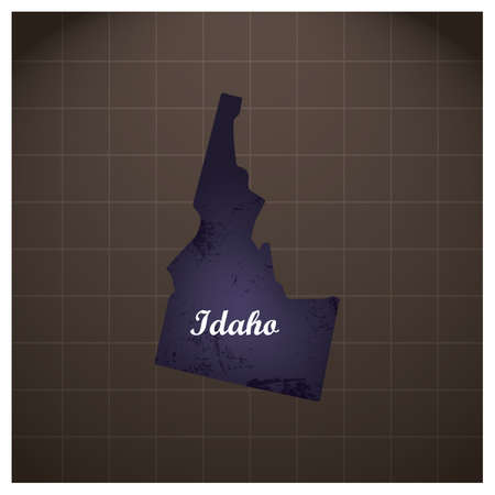 idaho state map 向量圖像