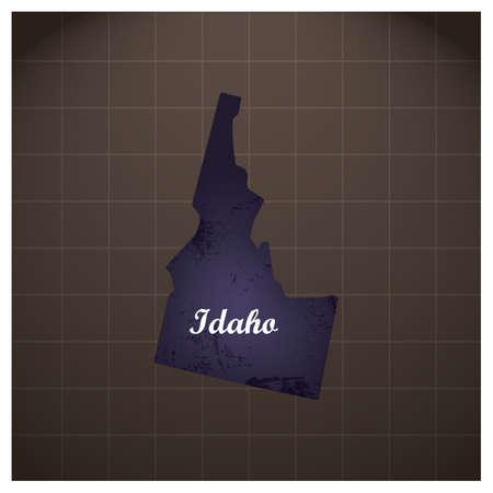 idaho state map Ilustração