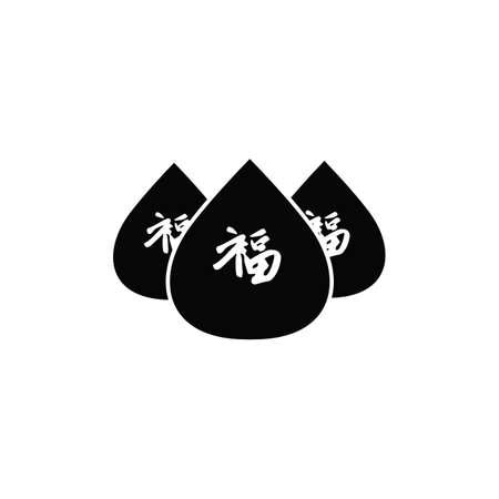 중국 복숭아 일러스트