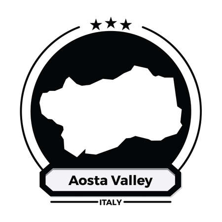 aosta valley map label