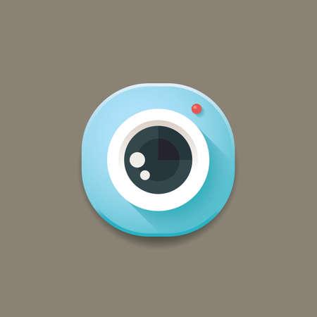 camera icon Stock fotó - 106667956