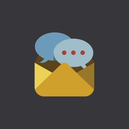 A message icon illustration. Illustration