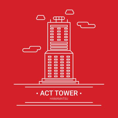 タワーを行動します。  イラスト・ベクター素材