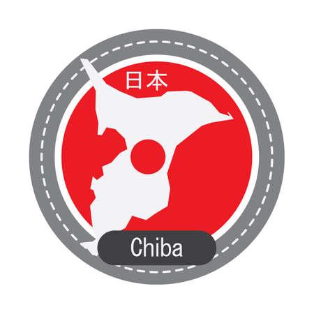 千葉地図  イラスト・ベクター素材