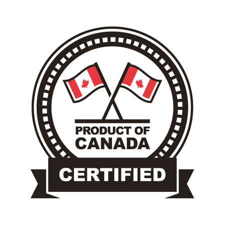 A product of canada label illustration.