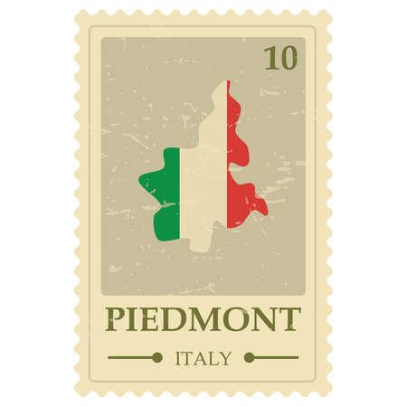 piedmont map postage stamp