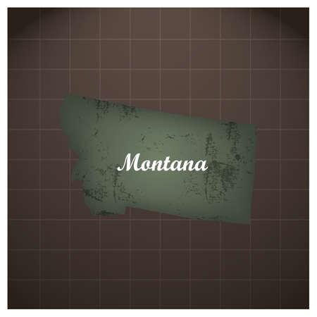 montana state kaart Stock Illustratie