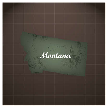 montana state map Stock fotó - 81533059