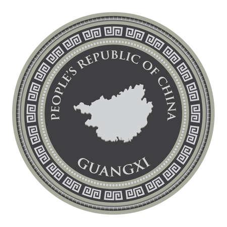 mapa de Guangxi