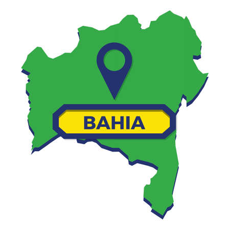 bahia map with map pin