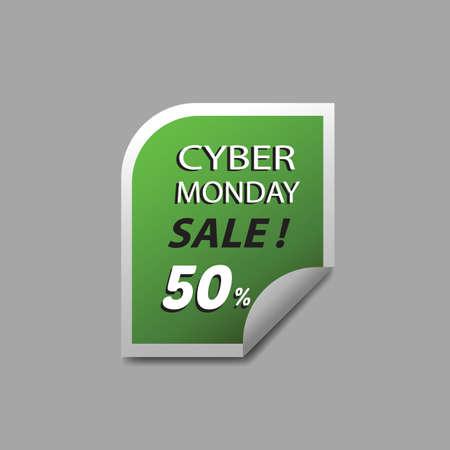 cyber monday sale sticker