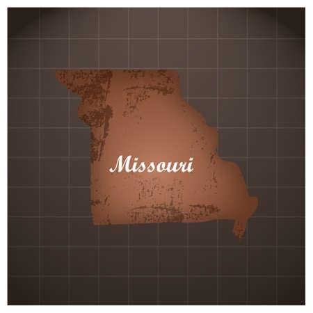 ミズーリ州地図