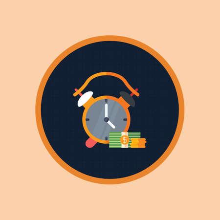 알람 시계와 달러 스톡 콘텐츠 - 81533327