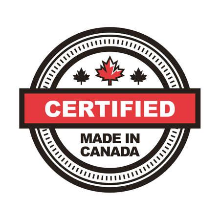 Made in canada label Stok Fotoğraf - 81589638