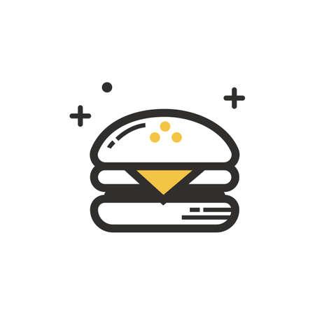Uma ilustração de hambúrguer. Foto de archivo - 81533989