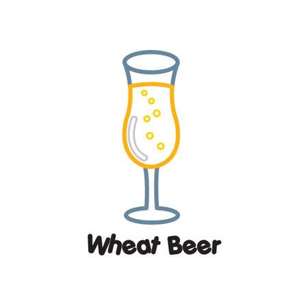 Wheat beer Illustration