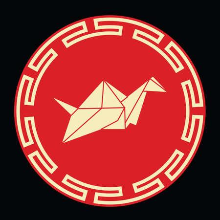 중국 종이 접기 일러스트