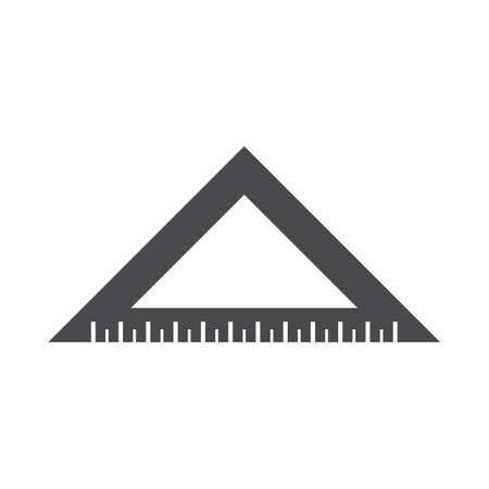 三角定規のイラスト。