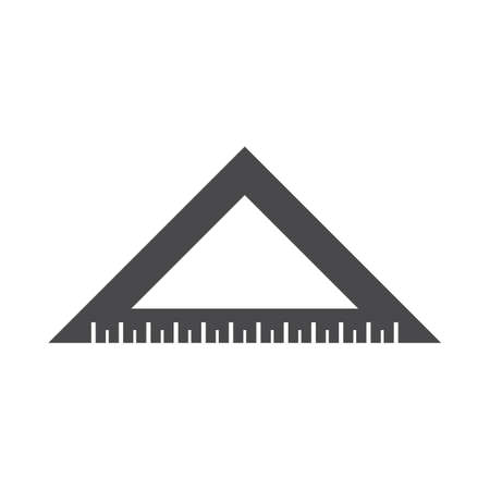 A triangular ruler illustration.