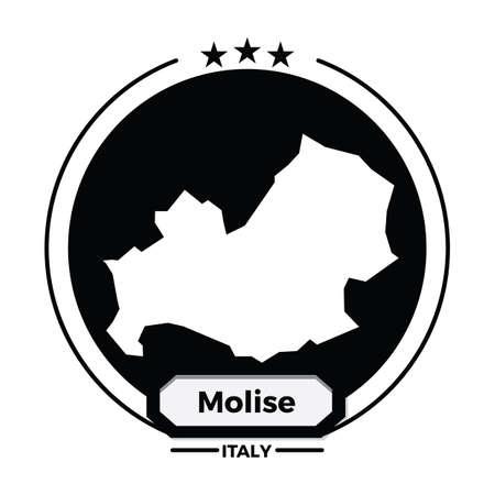 molise map label 向量圖像