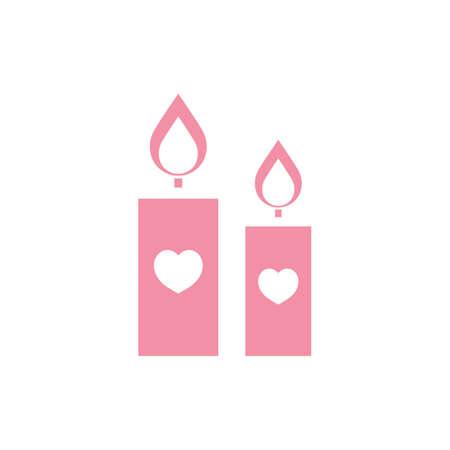 蝋燭の心のシンボル
